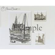 Twee miniaturen en grote print