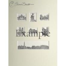 Panorama en zes miniaturen